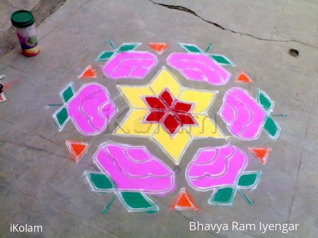 Rangoli: Rose Rangoli