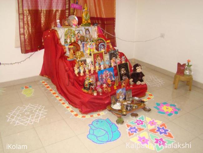 Rangoli: Golu with kolam