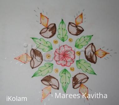 Rangoli: dot kolam for kaarthigai