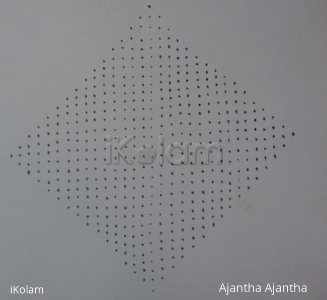 Rangoli: dot pattern for my kolam