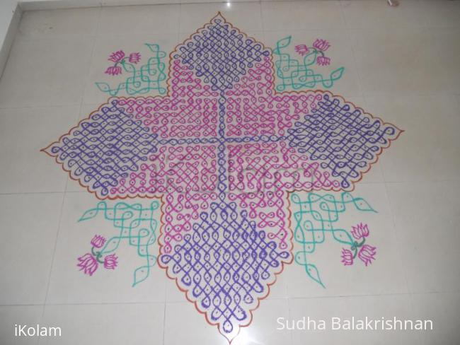 Rangoli: Chikku kolam for contest