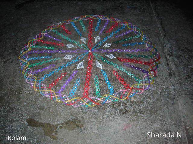 Rangoli: chikku/suzhi round kolam