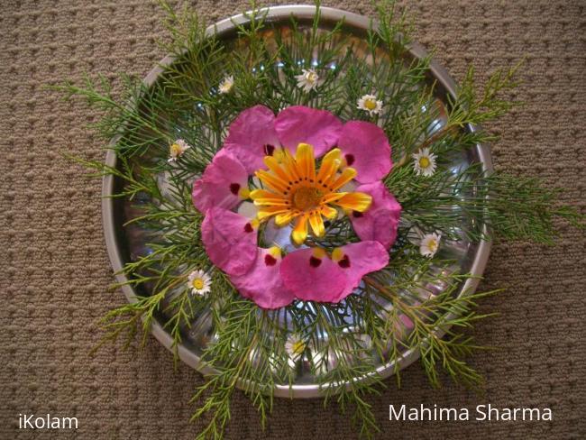 Rangoli: flower arrangement for diwali