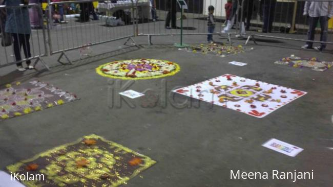 Rangoli: Rangoli display for Diwali in dublin (2)