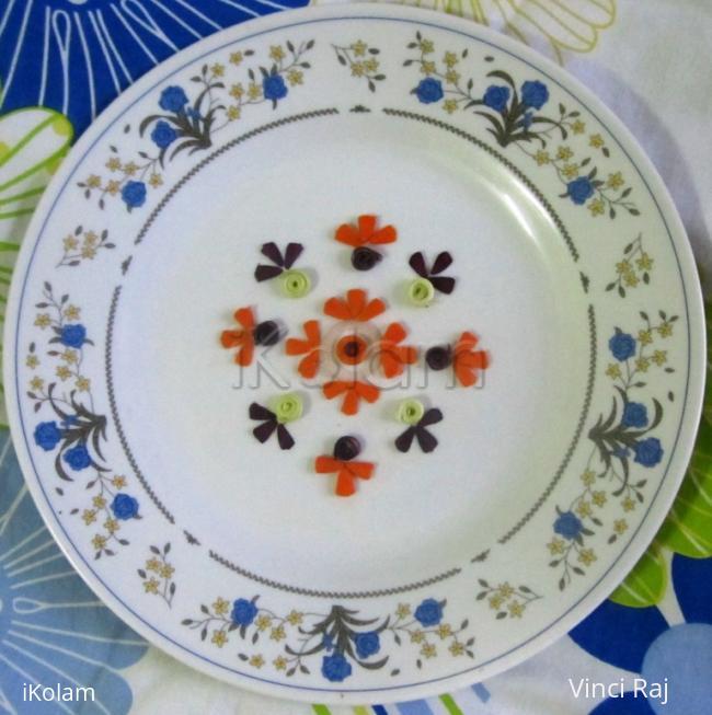 Rangoli: Veggie Quilling -2