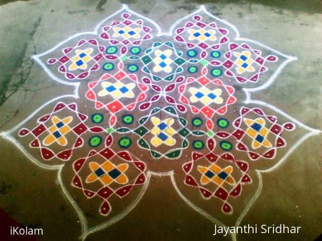 Rangoli: Sikku Kolam For Contest - Jasree