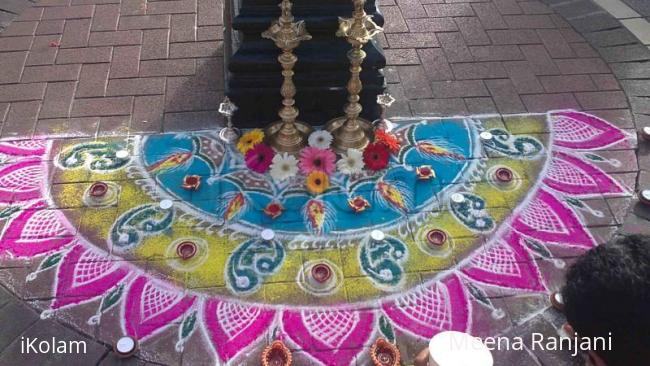 Rangoli: Rangoli display for Diwali in dublin (4)