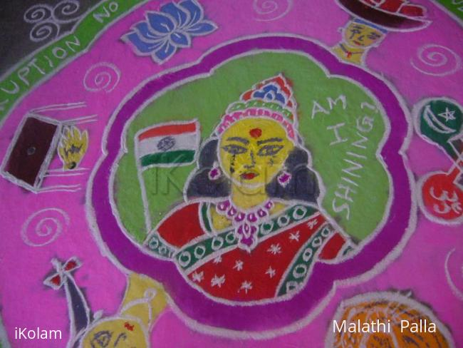 Rangoli: Concept Rangoli-Is India shining? - pic 2