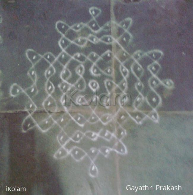Rangoli: Chikku kolam for beginners