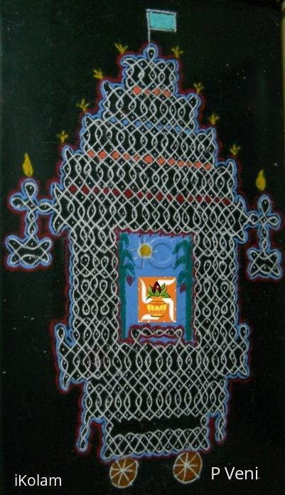 Rangoli: Chariot Kolam - Sikku Kolam - 76