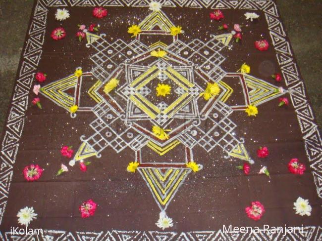 Rangoli: Chowkpurana or Padi kolam painting
