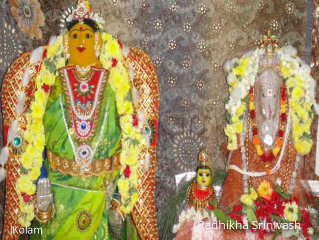 Rangoli: vinayagar and gowri pooja