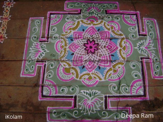 Rangoli: Akshaya trithiya Tibetian type rangoli