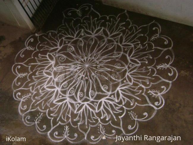 Rangoli: Karthigai deepam1