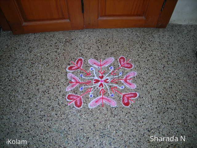 Rangoli: Kidney and heart kolam