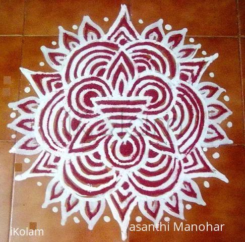 Rangoli: Friday Line Kolam