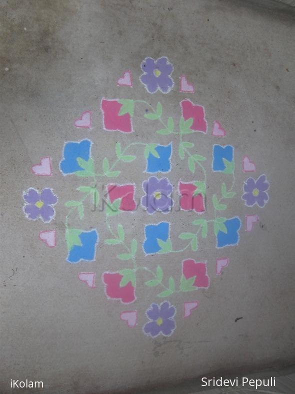 Rangoli: Dotted kolam 21-3-3