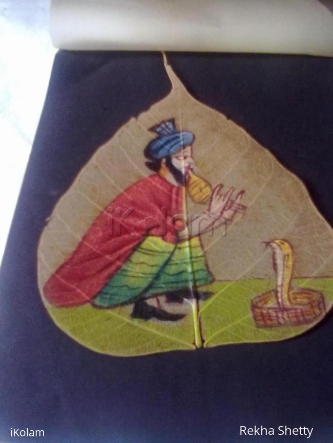 Rangoli: aswata leaf painting 5