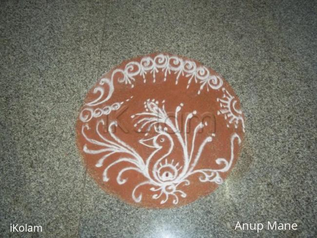 Rangoli: Rangoli-Satyanarayan pooja and Gana Homa