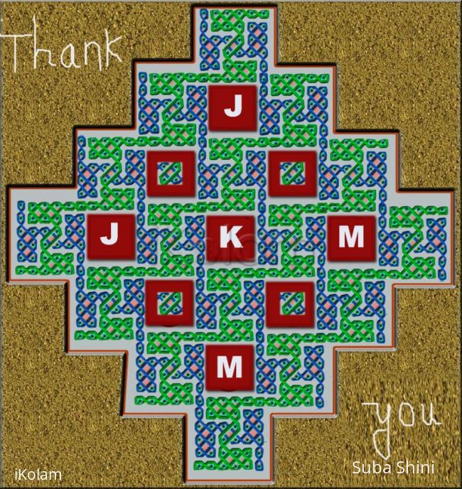 Rangoli: Thanks giving kolam