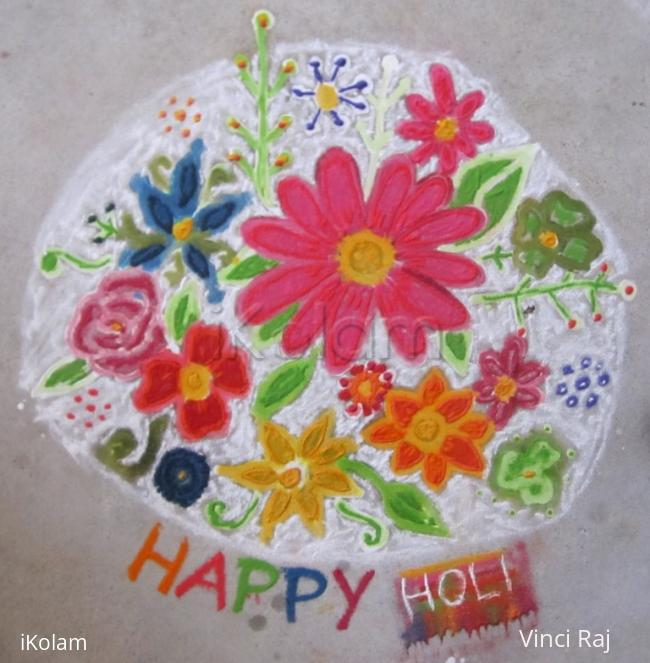 Rangoli: Holi Kolam