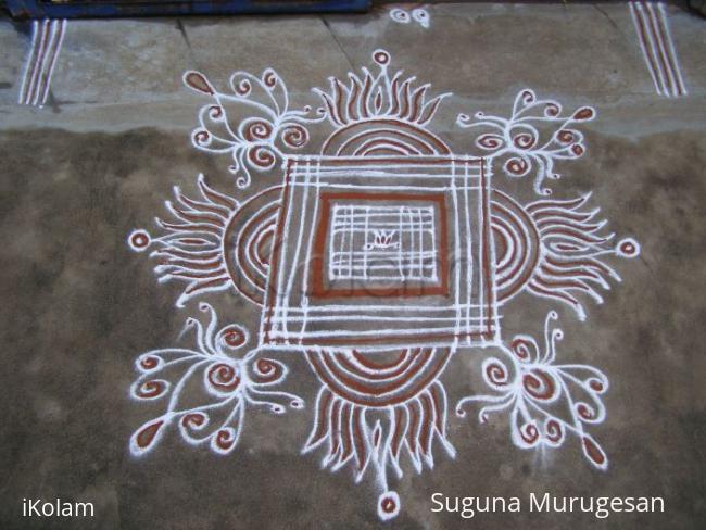 Rangoli: padi kolam 5