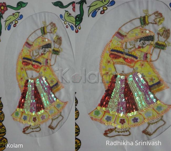 Rangoli: sequins work
