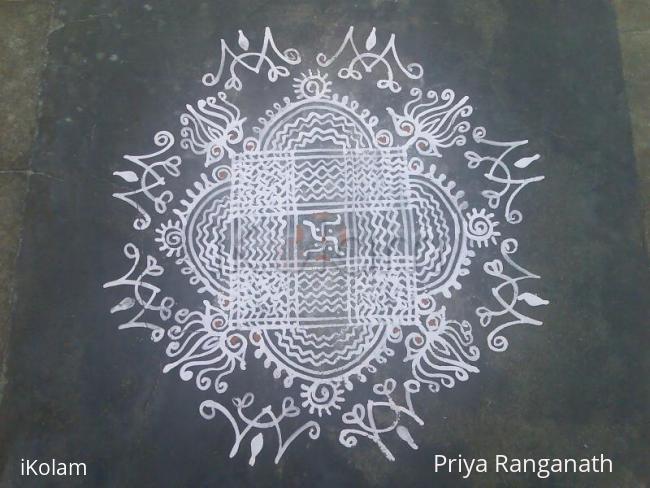 Rangoli: Ist Navaratri Kanya Kolam