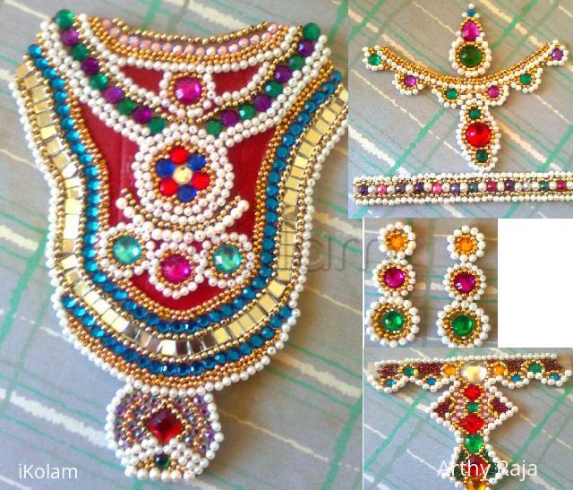 Rangoli: Ambal Jewels - For kalasam decoration - Golu 2011