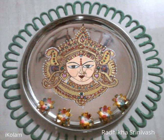 Rangoli: Durga painting