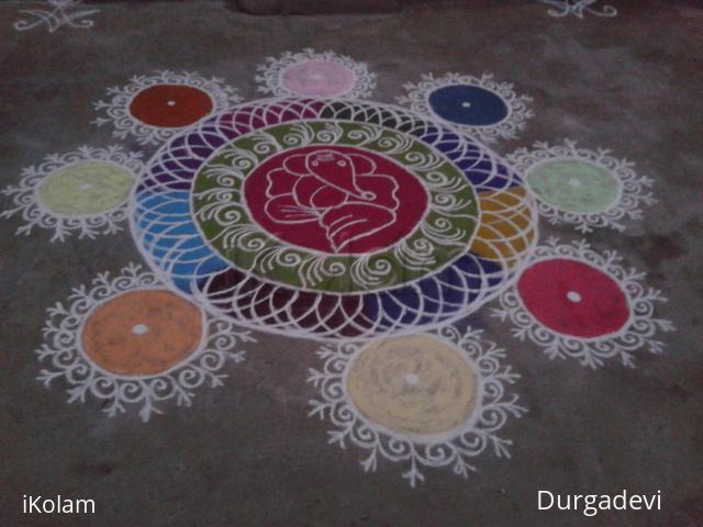 Rangoli: ganesh sanskarbarathi rangoli