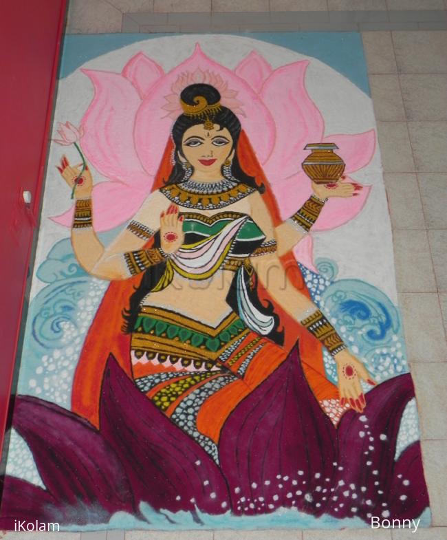 Rangoli: Goddess Laxmi