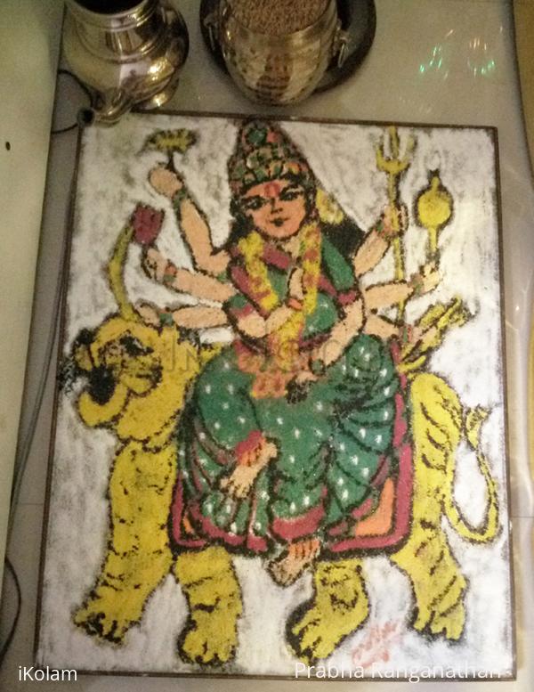 Rangoli: Durga Maa