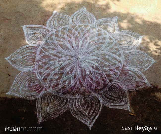 Rangoli: rangoli in double strokes