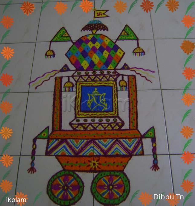 Rangoli: Rathasaptami Kolam