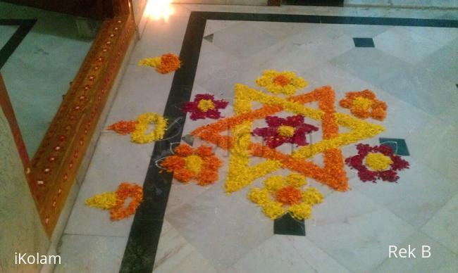 Rangoli: Star flowers