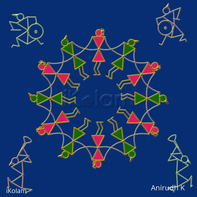 Rangoli: Warli - Celebration