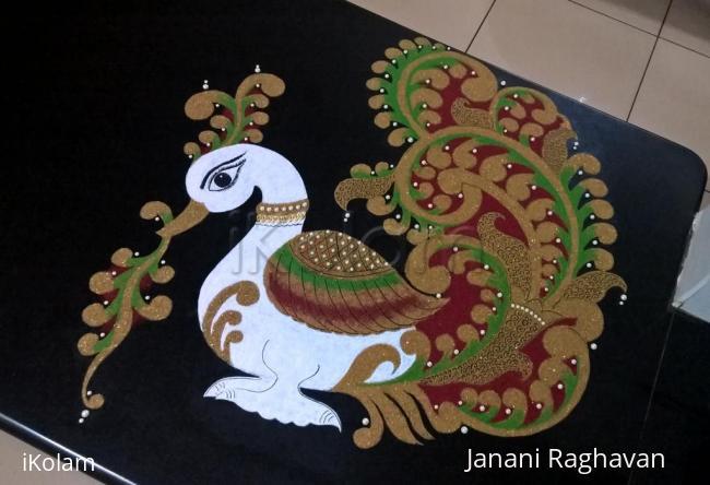 Rangoli: 2017-Navratri-1-Swan