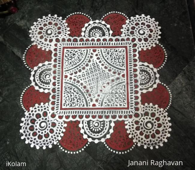 Rangoli: 2018- Akshaya Thrithiya- Threshold Kolam
