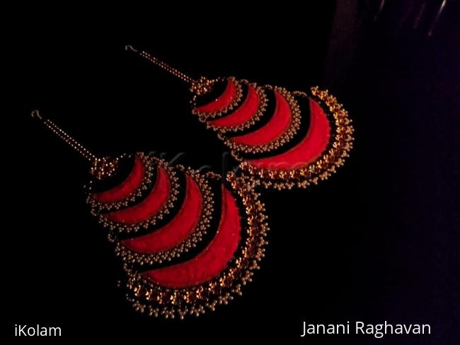 """Rangoli: 2018- Welcoming """"The Grand Lady"""" and seeking Her blessings much before Navratri with a pair of jhoomar-type chandelier earrings...."""