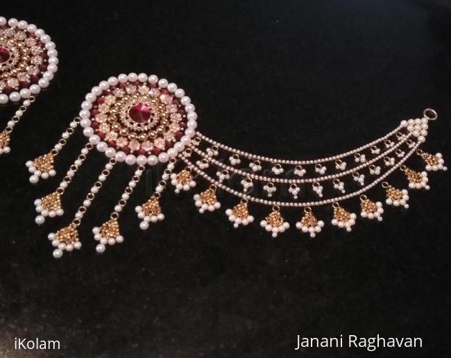 Rangoli: 2018-  Bahubali earrings for the Goddess-2