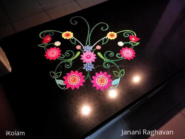 Rangoli: Home Kolams- Butterfly