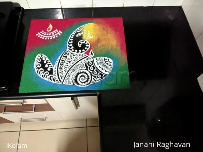 Rangoli: Home Kolams- Ganesha- Ganapaty Bappa Morya...Mangalamurthi Morya.....