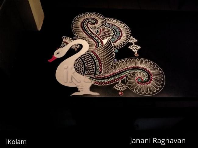 Rangoli: Home Kolams- Annapakshi