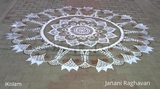 Rangoli: 2015-NMKRV College-Sanskrit Exhibition-1
