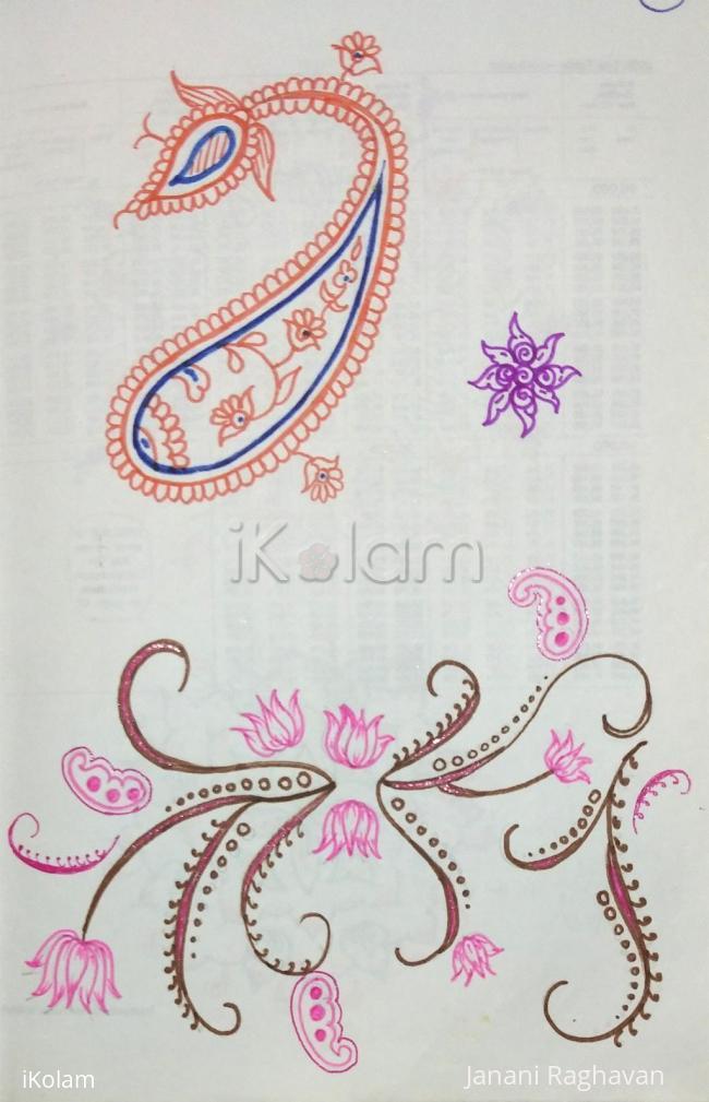 Rangoli: Kolam Notebook Kolams- 132