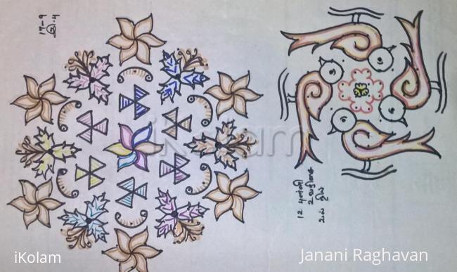 Rangoli: Kolam Notebook Kolams- 28