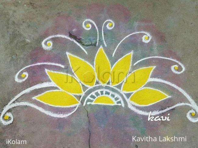 Rangoli: Navarathri Day 1: color code: yellow
