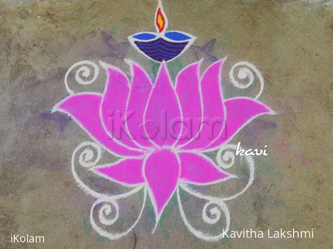 Rangoli: Navarathri Day 8 : color code: Pink