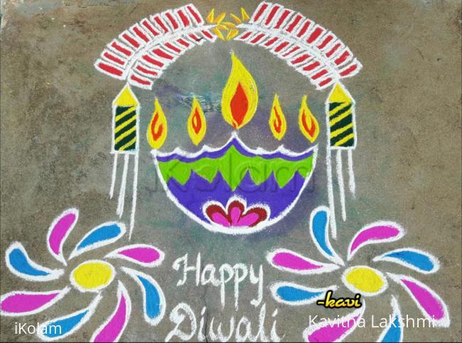 Rangoli: Diwali Special with diya & crackers